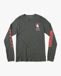 0 Birdwell Collab 02 Long Sleeve T-Shirt Black M456PRCB RVCA
