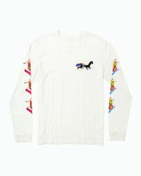 0 Spanky Gallop Long Sleeve T-Shirt White M456WRGA RVCA