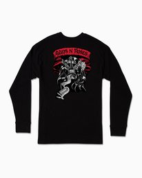 0 George Thompson Guns N Roses Long Sleeve T-Shirt Black M459SRTH RVCA