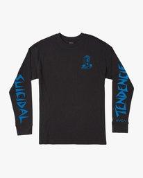 0 RVCA x Suicidal Tendencies Long Sleeve T-Shirt Black M459TRSU RVCA