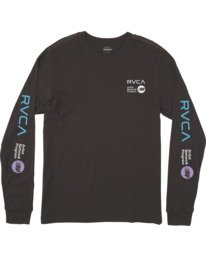 0 ANP LONG SLEEVE TEE Black M4631RAN RVCA