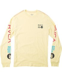 0 ANP LONG SLEEVE TEE Grey M4631RAN RVCA
