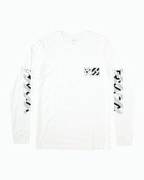 0 HAZARD LONG SLEEVE T-SHIRT White M4631RHA RVCA