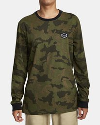 0 BOAR HUNT CAM LONG SLEEVE T-SHIRT Brown M4632RBO RVCA