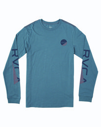 0 FRACTION LONG SLEEVE TEE Blue M4633RFR RVCA