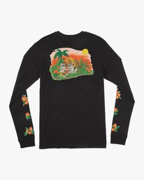 0 Grisancich Jungle Long Sleeve T-Shirt Black M463VRJU RVCA