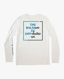 0 Teared Long Sleeve T-Shirt White M463VRTE RVCA