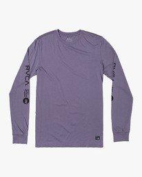 0 ANP Long Sleeve T-Shirt Purple M463WRAN RVCA