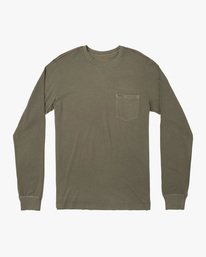 0 PTC Pigment Long Sleeve TEE Green M467TRPT RVCA