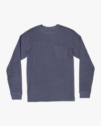 0 PTC PIGMENT LONG SLEEVE T-SHIRT Blue M467TRPT RVCA