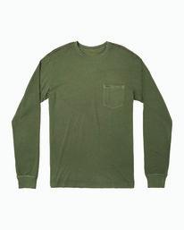 0 PTC Pigment Long Sleeve T-Shirt Green M467TRPT RVCA