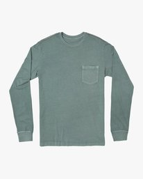 0 PTC Pigment Long Sleeve T-Shirt Green M467TRPT RVCA