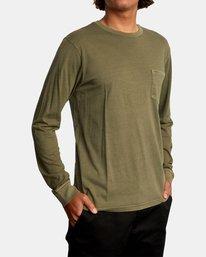 5 PTC Pigment Long Sleeve TEE Green M467TRPT RVCA