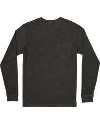 1 PTC Pigment Long Sleeve TEE Black M467TRPT RVCA
