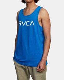 3 BIG RVCA TANK TOP Blue M4812RBI RVCA