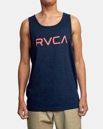 1 BIG RVCA TANK TOP Blue M4812RBI RVCA