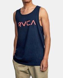 5 BIG RVCA TANK TOP Blue M4812RBI RVCA