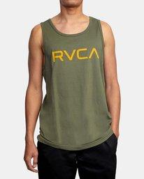 1 BIG RVCA TANK TOP Green M4812RBI RVCA