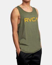 5 BIG RVCA TANK TOP Green M4812RBI RVCA