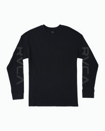 0 BIG PIXEL LONG SLEEVE TEE Black M4923RBI RVCA