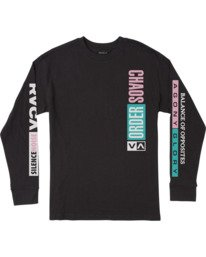 0 HEADLINE LONG SLEEVE TEE  M4923RHE RVCA