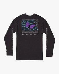 0 Kaos Long Sleeve T-Shirt Black M492URKA RVCA