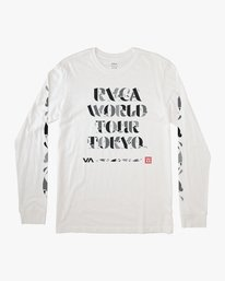 0 Mhak Tokyo Long Sleeve T-Shirt White M492VRMH RVCA