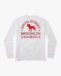 0 Smith Street Long Sleeve T-Shirt White M492VRWI RVCA