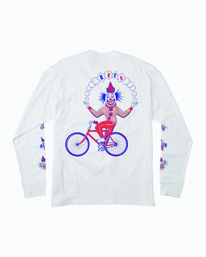 0 Big Top Long Sleeve T-Shirt White M492WRBT RVCA