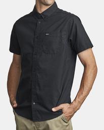 4 That'll Do Stretch Button-Up Shirt Black M501VRTD RVCA