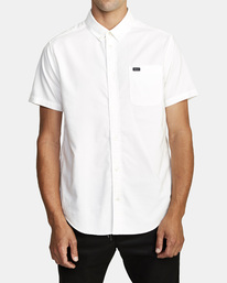 1 That'll Do Stretch Button-Up Shirt White M501VRTD RVCA
