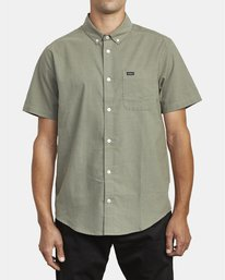 0 THATLL DO STRETCH SHORT SLEEVE SHIRT Green M501VRTD RVCA