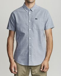 0 That'll Do Stretch Button-Up Shirt Blue M501VRTD RVCA