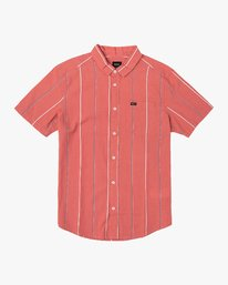 0 Hacienda Stripe Button-Up Shirt Pink M502VRHS RVCA