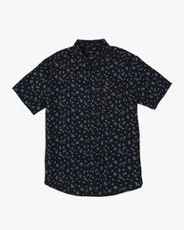 0 That'll Do Print Button-Up Shirt Black M502VRTP RVCA
