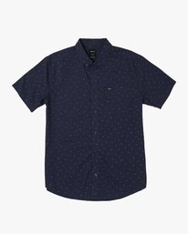 0 That'll Do Print Button-Up Shirt Blue M502VRTP RVCA