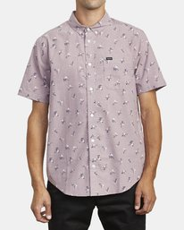 0 THAT'LL DO PRINT BUTTON-UP SHIRT Red M502VRTP RVCA