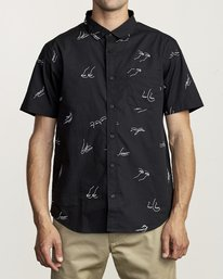 0 JOHANNA GESTURES BUTTON-UP SHIRT Black M5031RJG RVCA