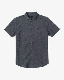 0 THAT'LL DO DOBBY BUTTON-UP SHIRT Black M503VRDD RVCA