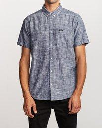 0 That'll Do Dobby Button-Up Shirt Blue M503VRDD RVCA
