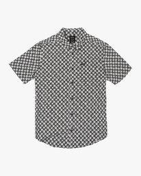 0 Greyscale Button-Up Shirt Black M505VRGS RVCA