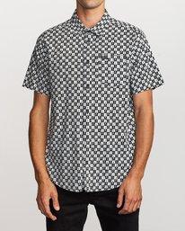 0 Greyscale Button-Up Shirt Black M505VRGS RVCA