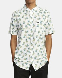 0 DMOTE REFLECTIONS SHORT SLEEVE SHIRT White M5062RDR RVCA