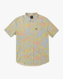 0 SANDERSON FLORAL SHORT SLEEVE SHIRT Blue M5063RSF RVCA