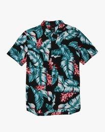 0 Benson Floral Button-Up Shirt Black M507WRBF RVCA
