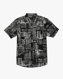 0 Modern Jungle Button-Up Shirt Black M508WRMJ RVCA