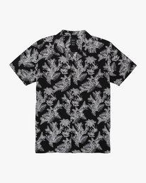0 Paradise Parrot Bowling Shirt Black M508WRPP RVCA