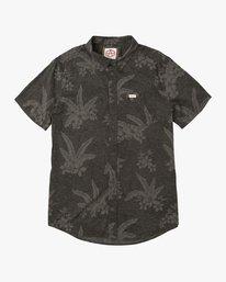 0 Andrew Reynolds Hawaiian Button-Up Shirt Black M509QRAR RVCA
