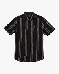 0 Split Stripe Button-Up Shirt Black M509VRSS RVCA