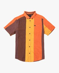 0 Split Stripe Button-Up Shirt Multicolor M509VRSS RVCA